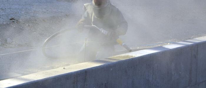 Reinigung von Beton, Industrieanlagen uvm. Trockeis-Strahlen, Sandstrahlen